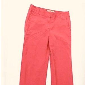 Jcrew women's favorite fit red chino pants/Size14
